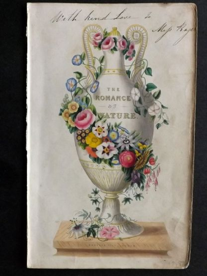 Twamley - Romance of Nature 1836 Hand Col Botanical Print. Illus Title Page. Vase